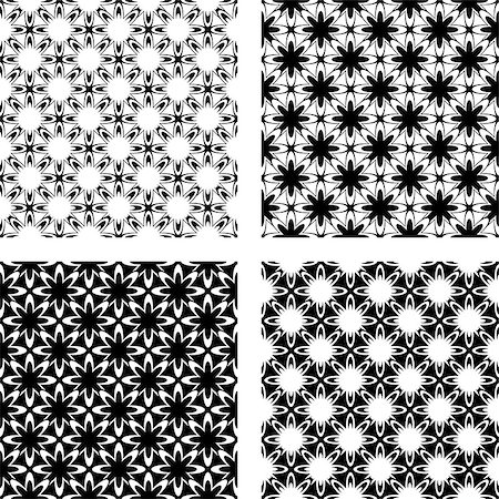 Design seamless monochrome pattern. Vector art Stock Photo - Budget Royalty-Free & Subscription, Code: 400-07048464