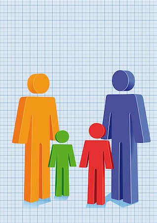 family abstract - Family Planning Stock Photo - Budget Royalty-Free & Subscription, Code: 400-07048689