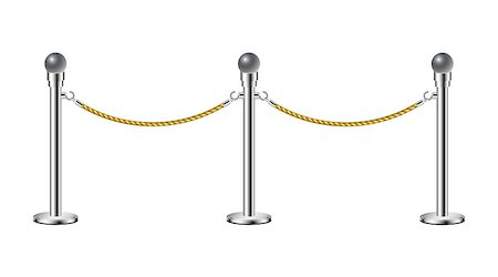 queue club - Stand rope barriers isolated on white background Stock Photo - Budget Royalty-Free & Subscription, Code: 400-07049348