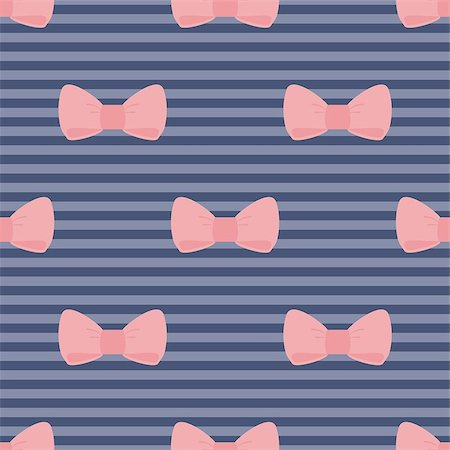 Seamless vector pattern with pastel pink bows on a navy blue strips background. For desktop wallpaper, web design, cards, invitations, wedding or baby shower albums, backgrounds, arts and scrapbooks. Stock Photo - Budget Royalty-Free & Subscription, Code: 400-07049774