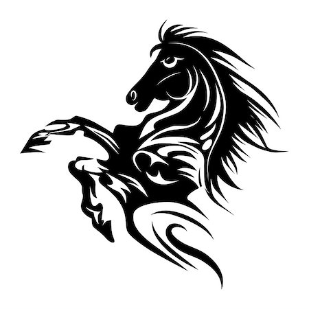 svetap (artist) - Horse tattoo symbol new year for design isolated vector animal emblem or logo template. Year of the horse. Stock Photo - Budget Royalty-Free & Subscription, Code: 400-07040732