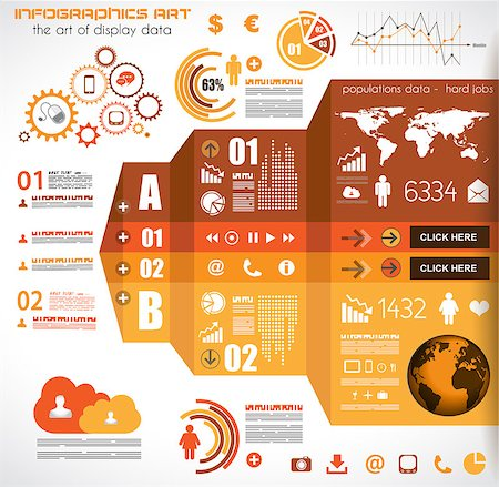report icon - Infographic elements - set of paper tags, technology icons, cloud cmputing, graphs, paper tags, arrows, world map and so on. Ideal for statistic data display. Stock Photo - Budget Royalty-Free & Subscription, Code: 400-07042399
