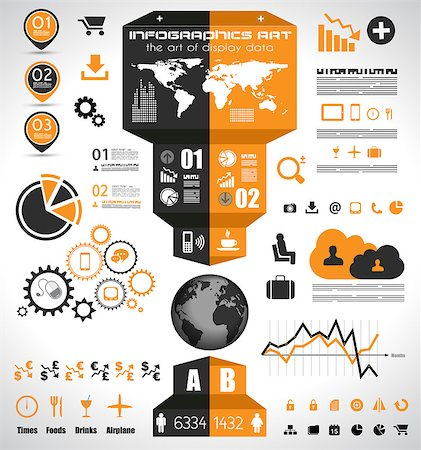 report icon - Infographic elements - set of paper tags, technology icons, cloud cmputing, graphs, paper tags, arrows, world map and so on. Ideal for statistic data display. Stock Photo - Budget Royalty-Free & Subscription, Code: 400-07042413