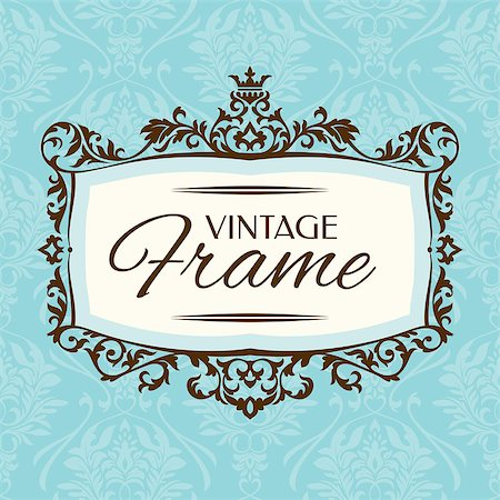 elegant wedding floral graphic - Vintage floral frame. Great for greeting and invitation card. Stock Photo - Budget Royalty-Free & Subscription, Code: 400-07055321