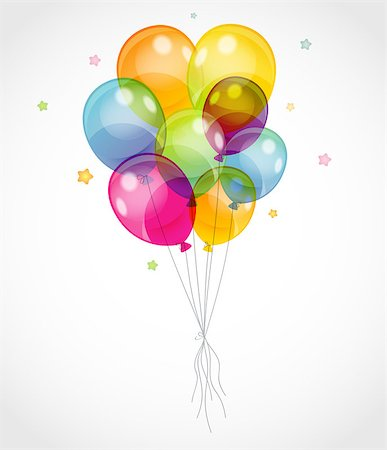Vector illustration of Background with colorful balloons Stock Photo - Budget Royalty-Free & Subscription, Code: 400-07055729