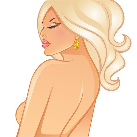 retro beauty salon images - Vector illustration of Beautiful blond woman Stock Photo - Budget Royalty-Free & Subscription, Code: 400-07056301