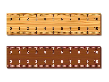 Wooden rulers on white background, vector eps10 illustration Stock Photo - Budget Royalty-Free & Subscription, Code: 400-07056583