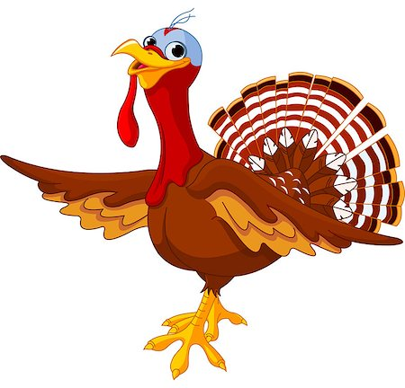Illustration of a cartoon turkey Stock Photo - Budget Royalty-Free & Subscription, Code: 400-07056816
