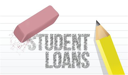 education loan - erasing student loans concept illustration design over white Stock Photo - Budget Royalty-Free & Subscription, Code: 400-07050401