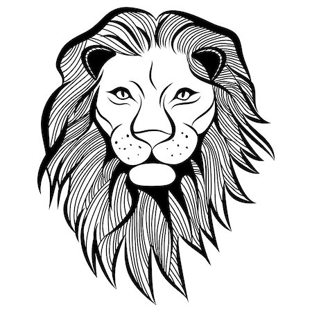svetap (artist) - Lion head vector animal illustration for t-shirt. Sketch tattoo design. Stock Photo - Budget Royalty-Free & Subscription, Code: 400-07050749