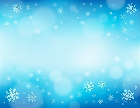 Snowflake theme background 1 - eps10 vector illustration. Stock Photo - Budget Royalty-Free & Subscription, Code: 400-07052417