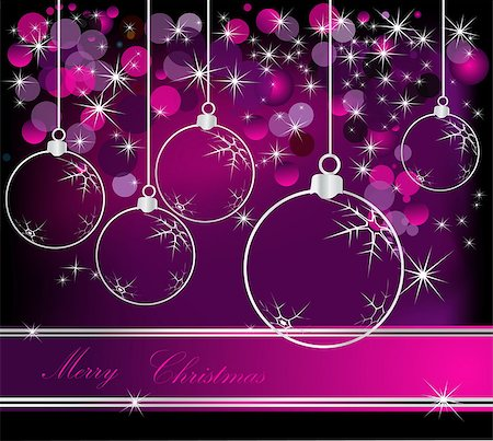 Merry Christmas  background silver and violet Stock Photo - Budget Royalty-Free & Subscription, Code: 400-07060888