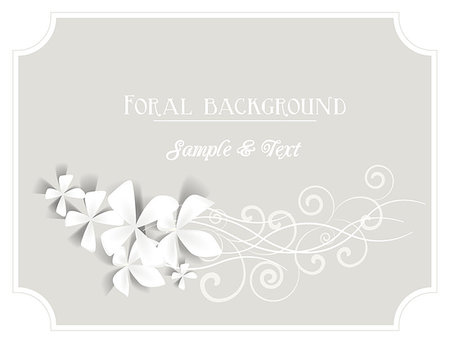 frame with flowers on a gray background Stock Photo - Budget Royalty-Free & Subscription, Code: 400-07060947