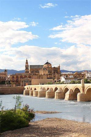 puentes - Great Mosque, Roman Bridge and Guadalquivir river, Cordoba, Spain Stock Photo - Budget Royalty-Free & Subscription, Code: 400-07061878