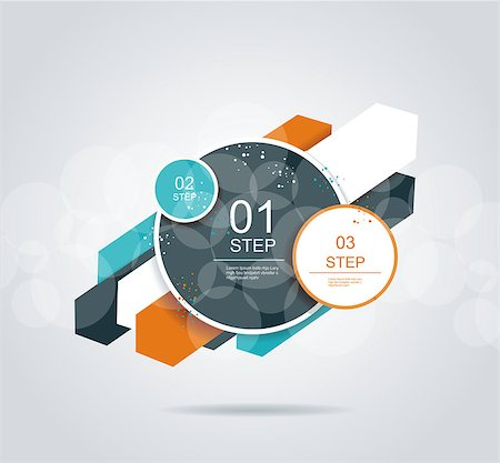 Modern arrow and circles options banner. Ccan be used for infographics, workflow layout, diagram, step options, web design. Stock Photo - Budget Royalty-Free & Subscription, Code: 400-07061928
