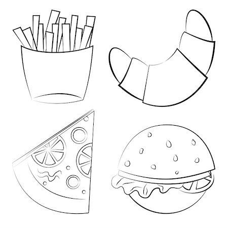 pzromashka (artist) - fast food. Vector illustration. set of objects Stock Photo - Budget Royalty-Free & Subscription, Code: 400-07094203