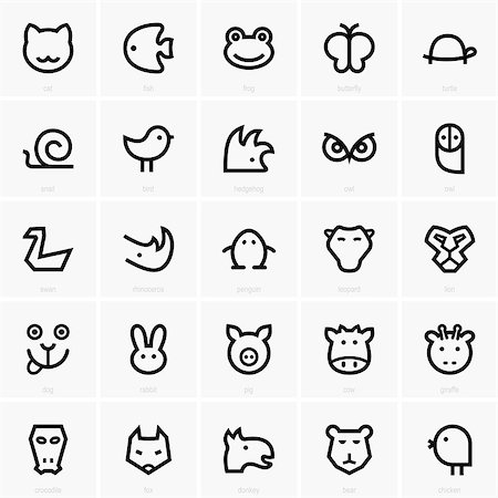 Set of animal icons Stock Photo - Budget Royalty-Free & Subscription, Code: 400-07094612