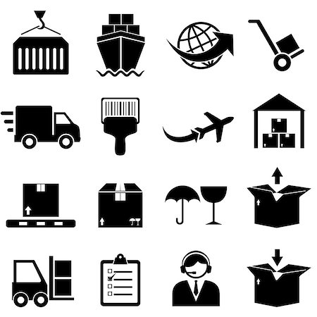 soleilc (artist) - Cargo and shipping icon set Stock Photo - Budget Royalty-Free & Subscription, Code: 400-07098416