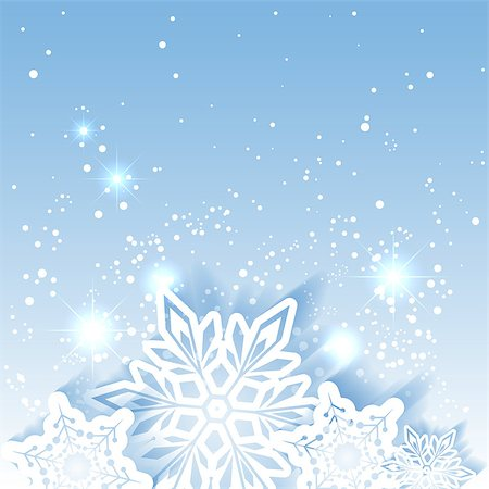 Sparkling Christmas Star Snowflake Greeting Card Stock Photo - Budget Royalty-Free & Subscription, Code: 400-07105557