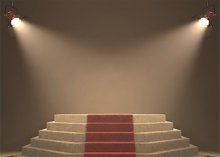 Lights illuminating the podium. Your text in light. Stock Photo - Budget Royalty-Free & Subscription, Code: 400-07105834