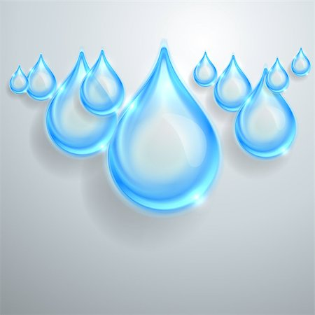 Blue shiny water drops Stock Photo - Budget Royalty-Free & Subscription, Code: 400-07106955