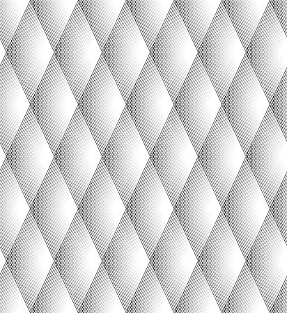 seamless - Seamless Diamond Pattern Black And White Lines Stock Photo - Budget Royalty-Free & Subscription, Code: 400-07107123