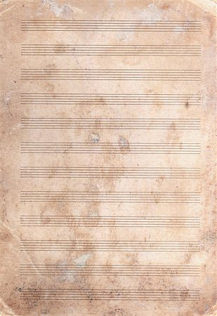 sheet music background - background of textured old stained  note paper Stock Photo - Budget Royalty-Free & Subscription, Code: 400-07100034