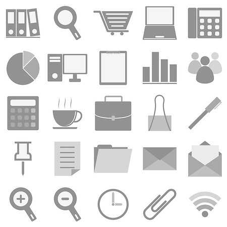 report icon - Office icons with white background, stock vector Stock Photo - Budget Royalty-Free & Subscription, Code: 400-07100156
