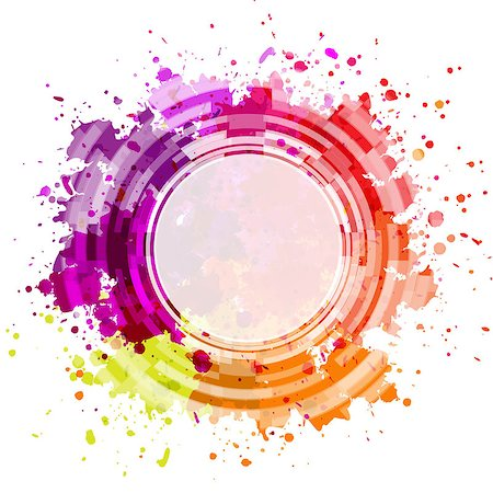 Colorful Blot Background, Vector Illustration Stock Photo - Budget Royalty-Free & Subscription, Code: 400-07101045