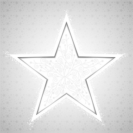 Abstract Christmas Star Snowflake Greeting Card Stock Photo - Budget Royalty-Free & Subscription, Code: 400-07103223