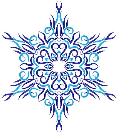pzromashka (artist) - vector tribal ornament in the shape of snowflakes Stock Photo - Budget Royalty-Free & Subscription, Code: 400-07103246