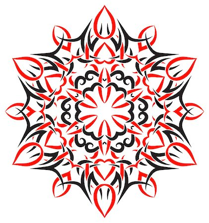 pzromashka (artist) - vector tribal ornament in the shape of snowflakes Stock Photo - Budget Royalty-Free & Subscription, Code: 400-07103247