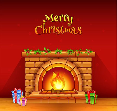 Vector illustration of Fireplace Stock Photo - Budget Royalty-Free & Subscription, Code: 400-07103583