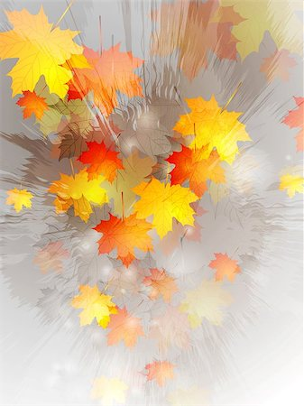 Grunge autumn vector design Stock Photo - Budget Royalty-Free & Subscription, Code: 400-07114153