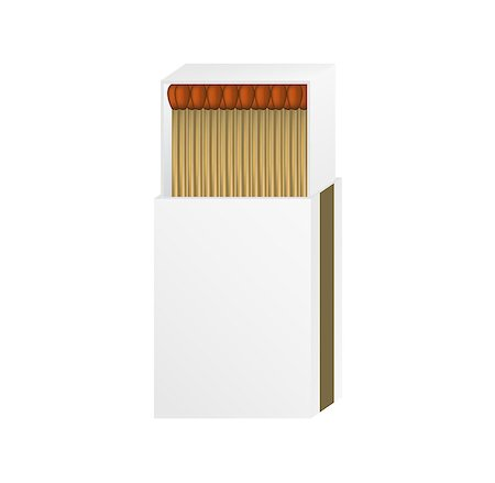 Open matchbox with a blank top on white background Stock Photo - Budget Royalty-Free & Subscription, Code: 400-07114210