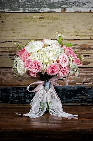 Image of a classic but modern bridal bouquet Stock Photo - Budget Royalty-Free & Subscription, Code: 400-07111196