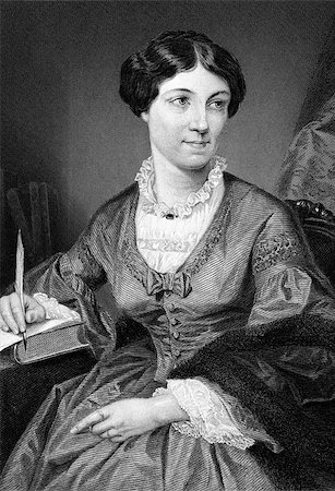 """Harriet Martineau (1802-1876) on engraving from 1873. English social theorist and Whig writer. Engraved after a painting by A.Chappel and published in """"The Masterpiece Library of Short Stories'',USA,1873. Stock Photo - Budget Royalty-Free & Subscription, Code: 400-07111280"""