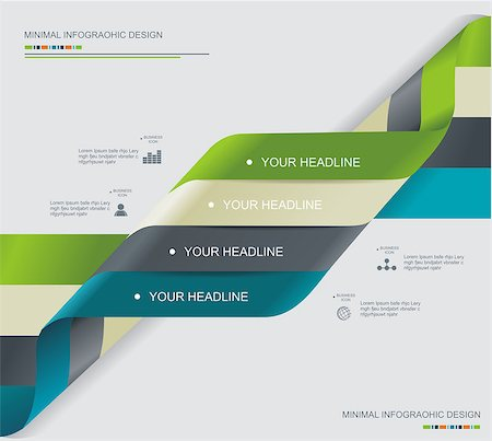 Modern spiral infographics options banner. Can be used for diagram, number options, steps banners, workflow layout, web design. Stock Photo - Budget Royalty-Free & Subscription, Code: 400-07124885