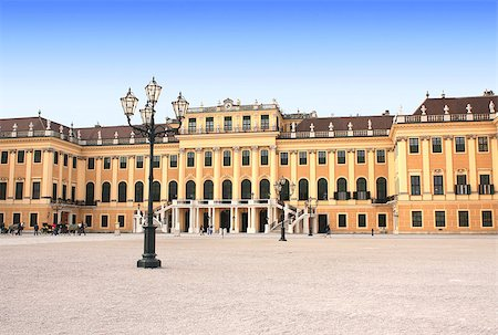 Schonbrunn Palace, Vienna, Austria Stock Photo - Budget Royalty-Free & Subscription, Code: 400-07125325