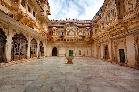 the palace inside Meherangarh Fort in the beautiful city of jodhpur in rajasthan state in india Stock Photo - Budget Royalty-Free & Subscription, Code: 400-07123978
