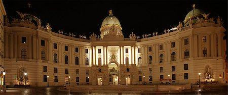 Vienna Hofburg Imperial Palace at night, - Austria Stock Photo - Budget Royalty-Free & Subscription, Code: 400-07169480