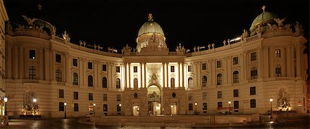 Vienna Hofburg Imperial Palace at night, - Austria Stock Photo - Budget Royalty-Free & Subscription, Code: 400-07169480