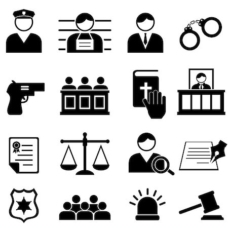 soleilc (artist) - Legal, justice and court icon set Stock Photo - Budget Royalty-Free & Subscription, Code: 400-07174796