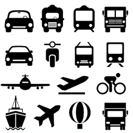 soleilc (artist) - Transportation icon set in black Stock Photo - Budget Royalty-Free & Subscription, Code: 400-07174798