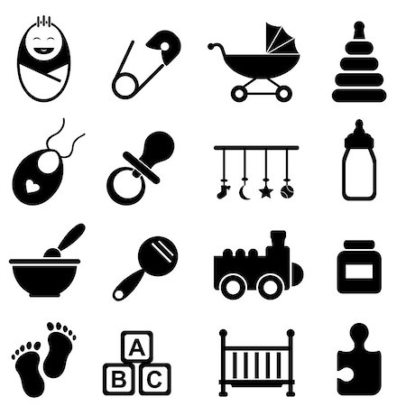 soleilc (artist) - Baby, infant and birth icon set Stock Photo - Budget Royalty-Free & Subscription, Code: 400-07179029
