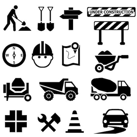 soleilc (artist) - Road repair, construction and maintenance icon set Stock Photo - Budget Royalty-Free & Subscription, Code: 400-07179031