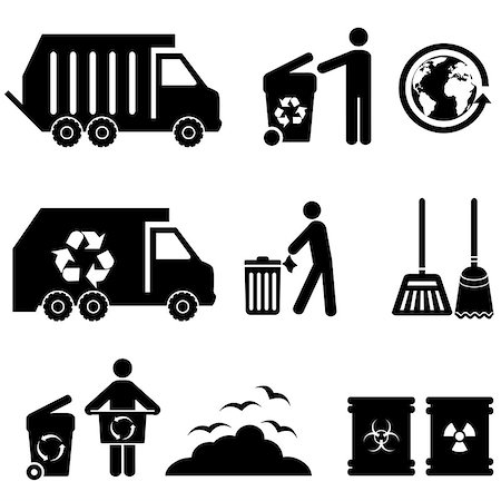 soleilc (artist) - Trash, garbage and waste icon set Stock Photo - Budget Royalty-Free & Subscription, Code: 400-07171676