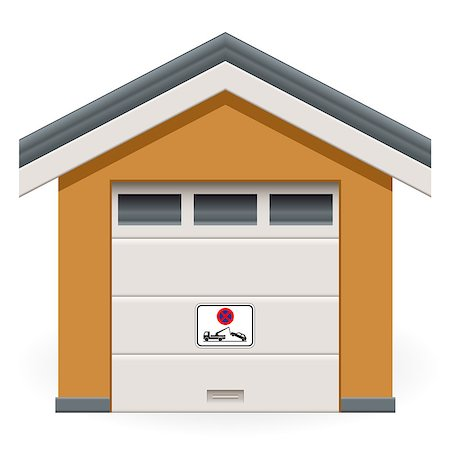 car garage with tow away sign Stock Photo - Budget Royalty-Free & Subscription, Code: 400-07172945