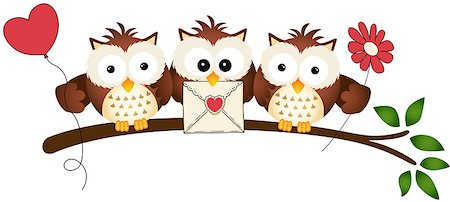 flying hearts clip art - Scalable vectorial image representing a cute three love owls, isolated on white. Stock Photo - Budget Royalty-Free & Subscription, Code: 400-07214188