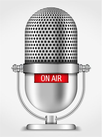 Microphone on the air, vector eps10 illustraiton Stock Photo - Budget Royalty-Free & Subscription, Code: 400-07215251